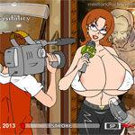 La reportera tetona: juegos prono, juegos xxx, juegos hentai