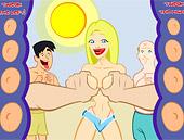 blonde_and_boobs Manoseada en la playa